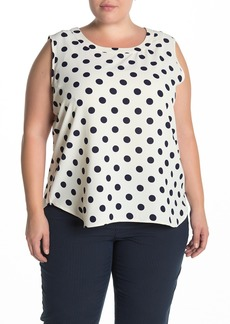 Anne Klein Dot Print Tank (Plus Size)