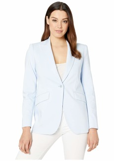 Anne Klein Double Weave Long Jacket