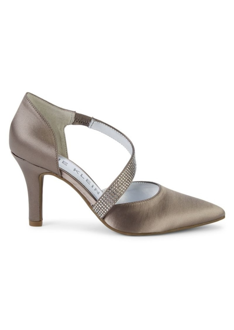 Anne Klein Fantastical Embellished Satin d'Orsay Pumps