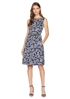 Anne Klein Fit & Flare Dress with Sash