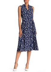 Anne Klein Floral Print Midi Dress