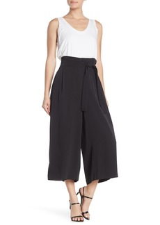 Anne Klein Fluid Crepe Belted Cropped Pant