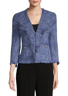 Anne Klein Fringed Slim Jacket
