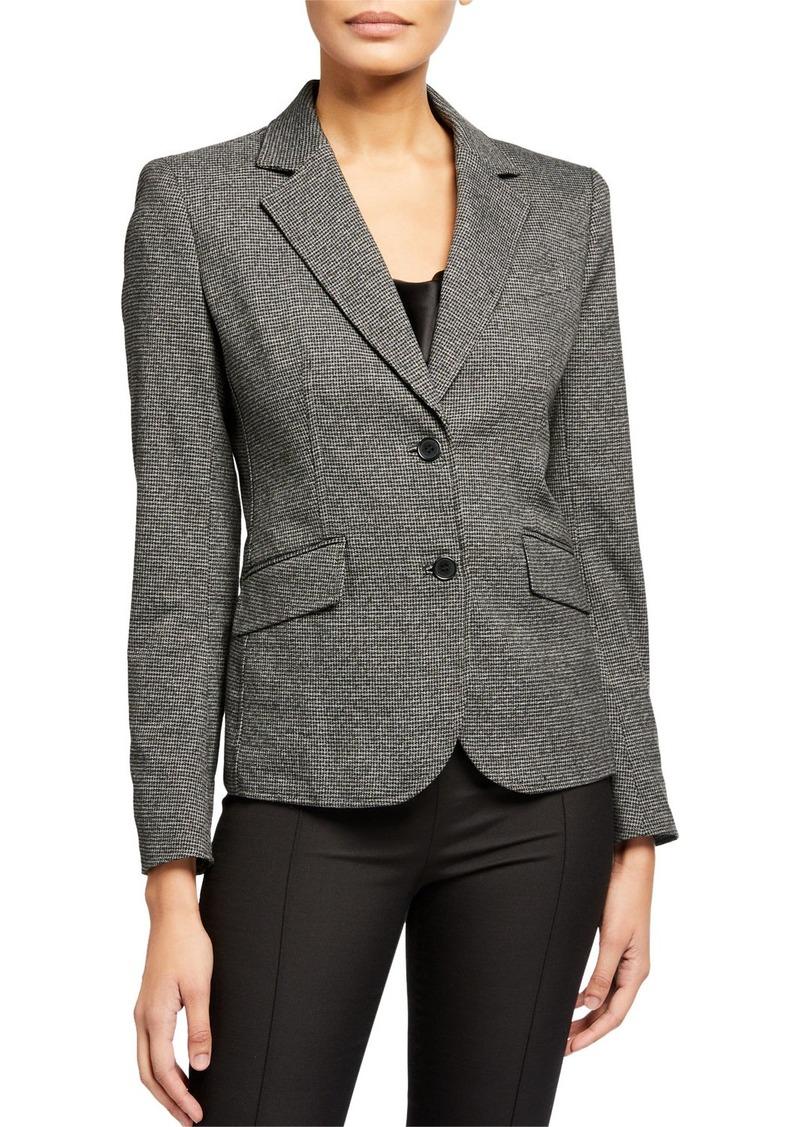 Anne Klein Houndstooth Two-Button Jacket