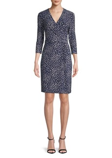 Anne Klein Ity Wrap-Front Dress