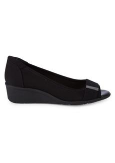 Anne Klein Jinnett Peep-Toe Wedge Shoes