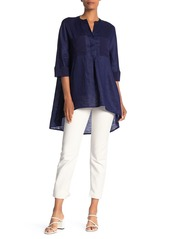 Anne Klein Linen High/Low Tunic