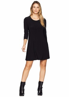 Anne Klein Long Sleeve Fit & Flare Shirtdress