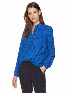 Anne Klein Long Sleeve High-Low Blouse