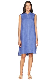 Anne Klein Mao Collar Trapeze Dress