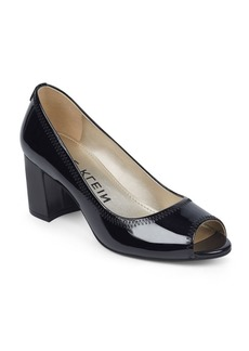 Anne Klein Meredith Slip-On Leather Dress Pumps