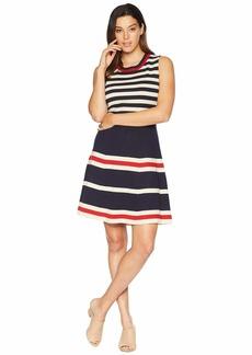 Anne Klein Multi Striped Fit & Flare Dress