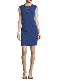 Anne Klein Mystery Lace-Insert Dress