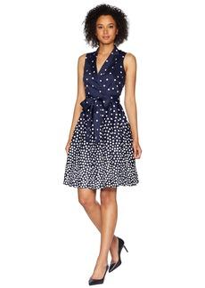 Anne Klein Notch Collar Wrap Dress