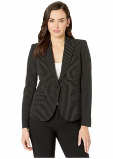 Anne Klein One-Button Peak Lapel Jacket