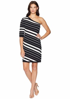 Anne Klein One Shoulder Sheath Dress