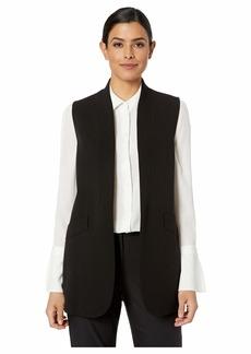Anne Klein Open Collarless Long Jacket