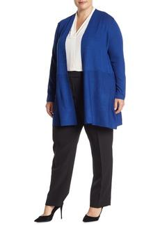 Anne Klein Open Front Long Cardigan (Plus Size)