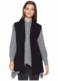 Anne Klein Open Front Vest with Pockets