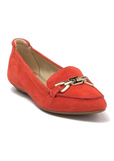 Anne Klein Ozzie Pointed Toe Leather Loafer