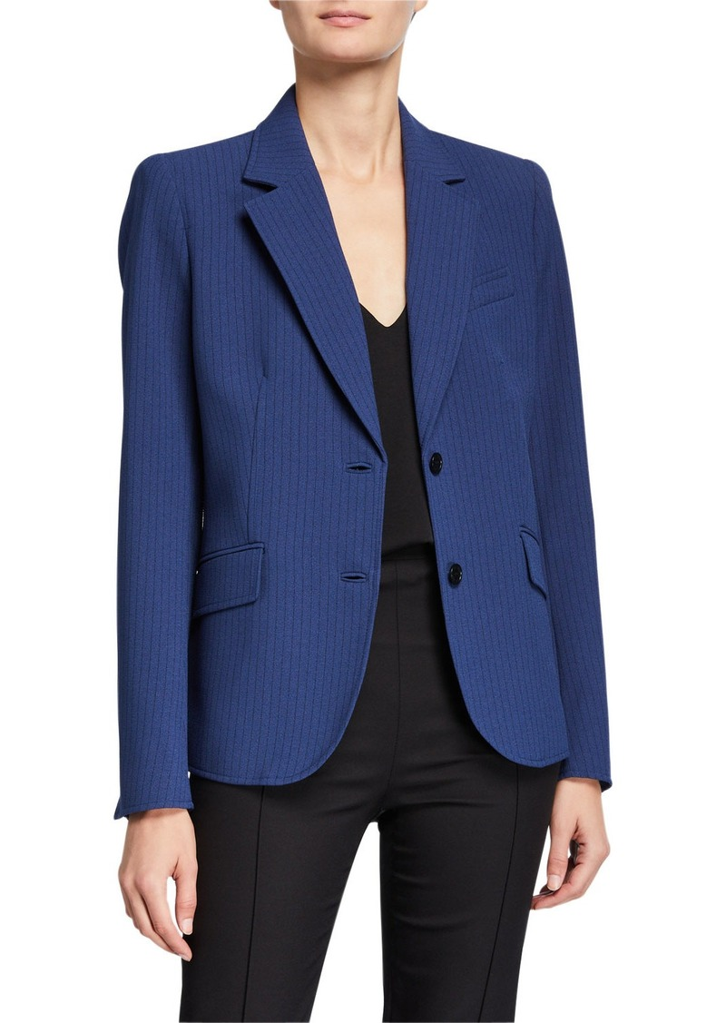 Anne Klein Pinstriped Crepe Two-Button Jacket