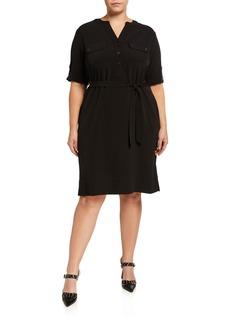 Anne Klein Plus Size Belted Shirtdress