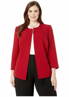 Anne Klein Plus Size Crepe Jacket