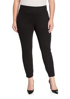 Anne Klein Plus Size Heather Pindot Compression Pants