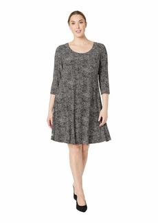 Anne Klein Plus Size Ity Long Sleeve Shirtdress