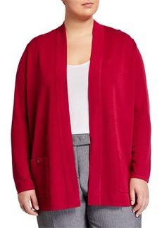 Anne Klein Plus Size Solid Malibu Cardigan