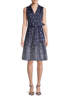 Anne Klein Polka Dot Wrap Dress