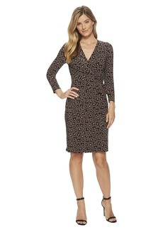 Anne Klein Printed Faux Wrap Dress