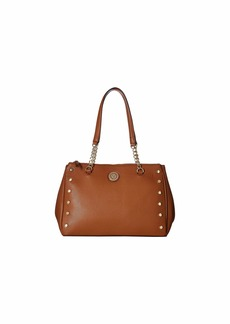 Anne Klein Round Double Top Zip Satchel