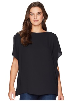 Anne Klein Ruffle Sleeve Blouse - Solid CDC