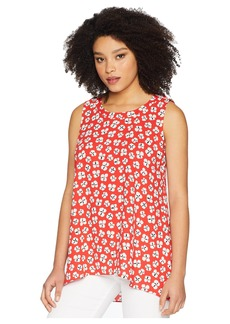 Anne Klein Sleeveless Floral High-Low Blouse