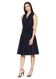 Anne Klein Soft Denim Fit and Flare Dress