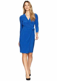 Anne Klein Solid Jersey Wrap Dress