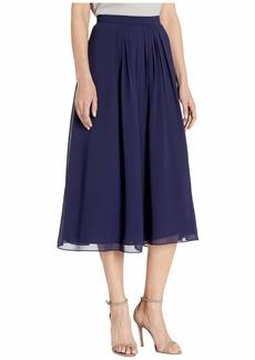Anne Klein Solid Pleated Skirt