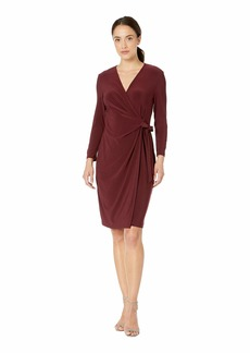 Anne Klein Solid Wrap Dress