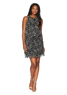 Anne Klein Stellar Dot Layered Dress
