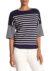 Anne Klein Stripe Dolman Sleeve Top