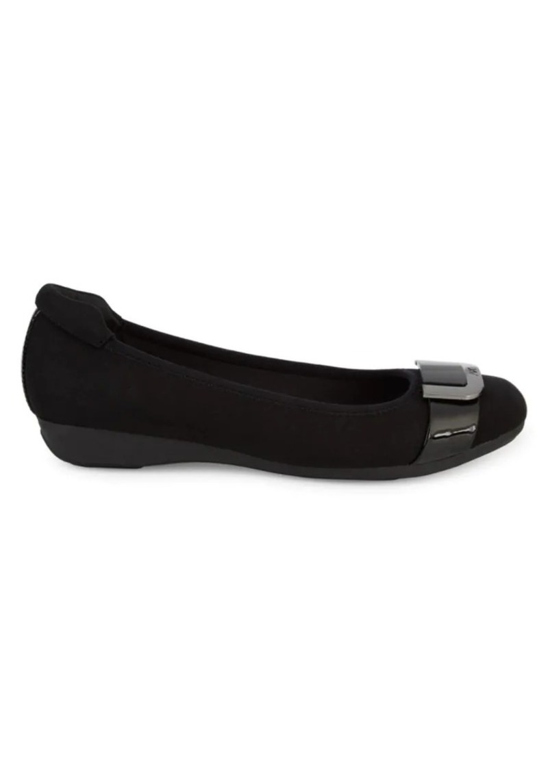 Anne Klein Ubeth Buckled Flats