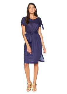 Anne Klein V-Neck Dress with Bow Sleeves