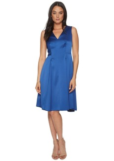 Anne Klein V-Neck Fit & Flare Dress