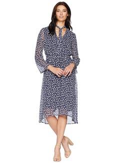 Anne Klein V-Neck Long Sleeve Fit & Flare Dress