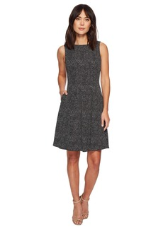Anne Klein Vertical Seamed Fit & Flare Dress