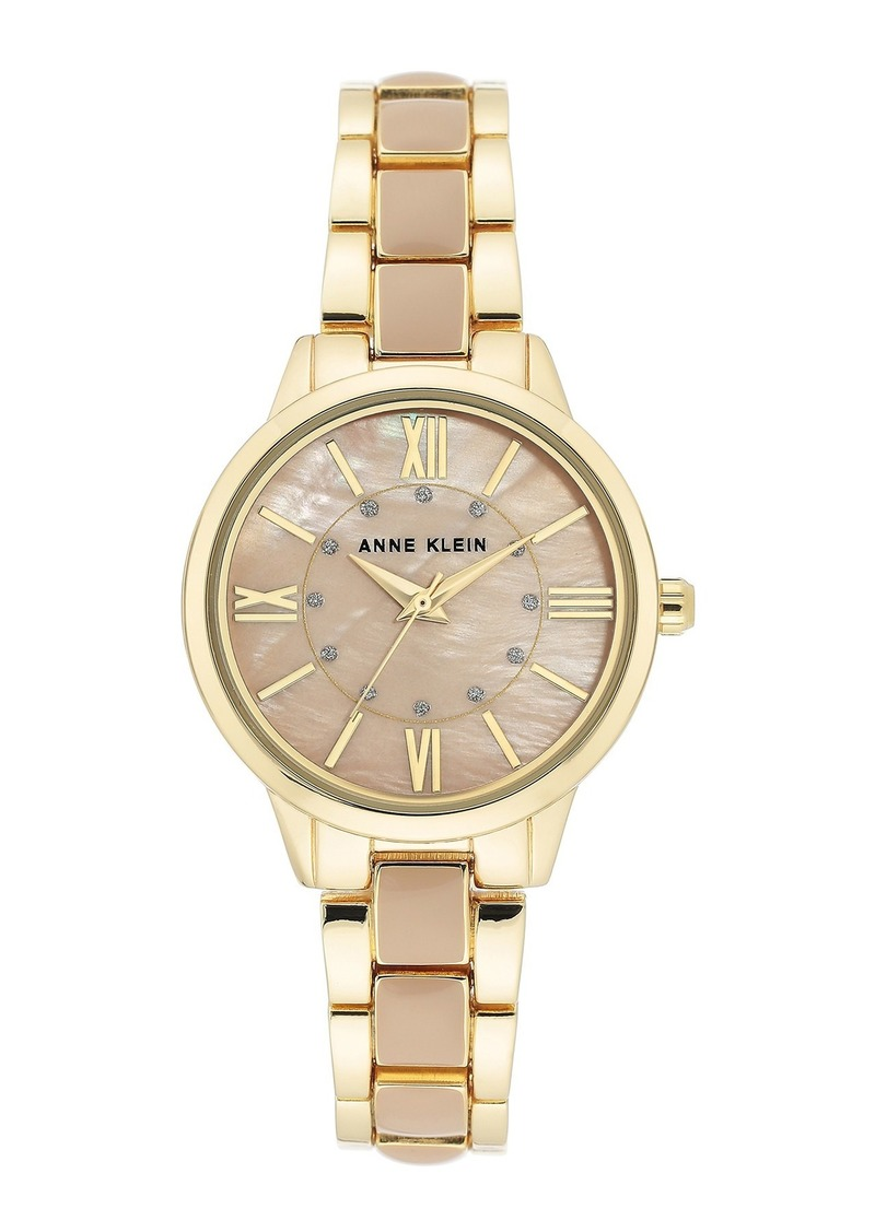 Anne Klein Women's Blush & Goldtone Trend Bracelet Watch, 32mm