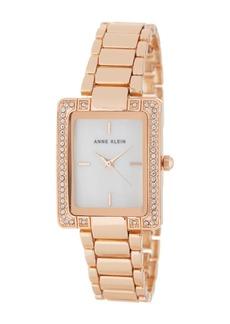 Anne Klein Women's Crystal & Mother of Pearl Bracelet Watch