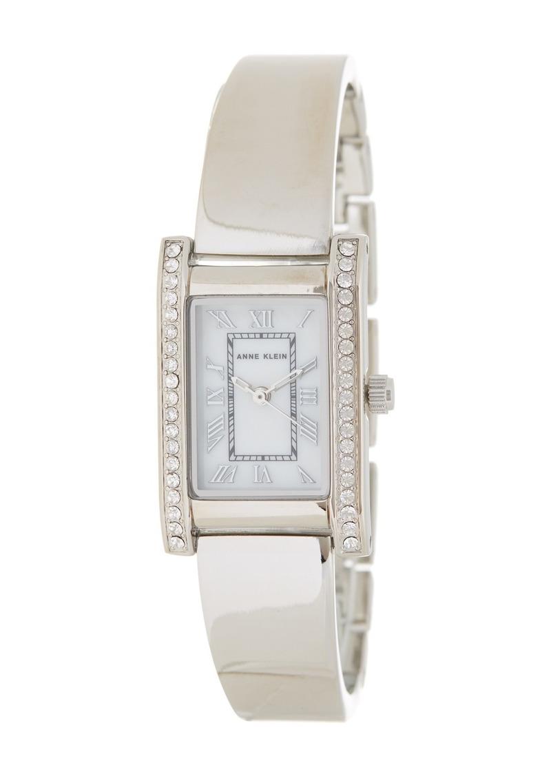 Anne Klein Women's Crystal Bangle Watch