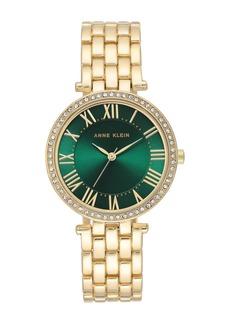 Anne Klein Women's Crystal Bezel Bracelet Watch, 34mm